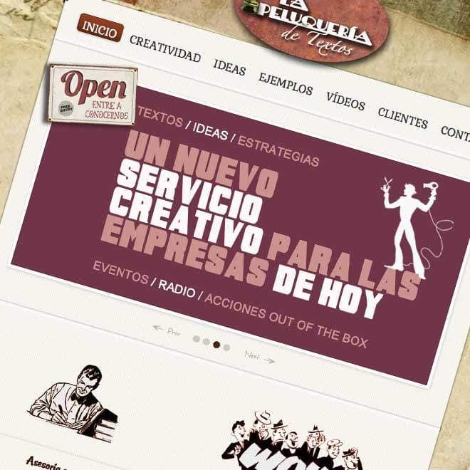 Página web para agencia creativa online