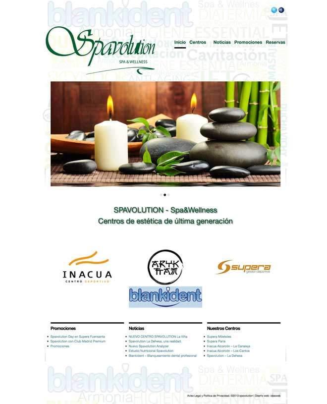 Página web para empresa de estética, belleza y spa