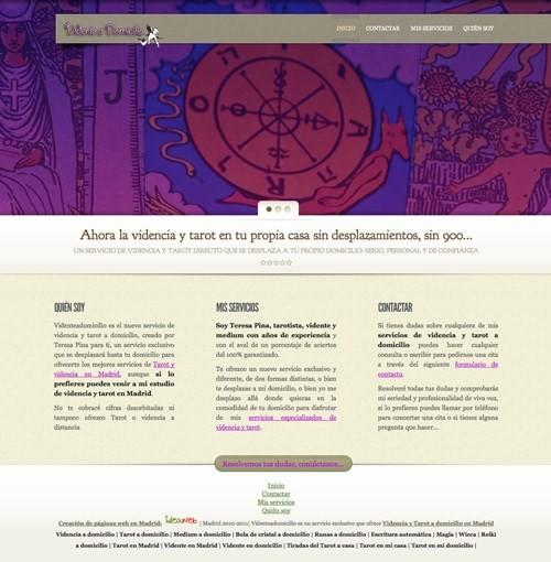 Diseño página web para Tarot y Videncia