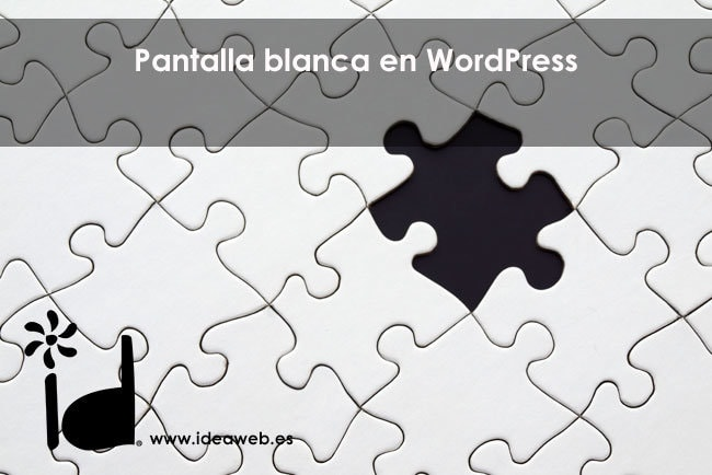 pantalla blanca WordPress