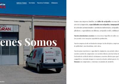 profesionales serigrafia pagina web Diseño paginas web
