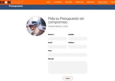 Proteccion Datos Presupuestos Pagina Web Madrid