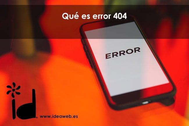 que es error 404
