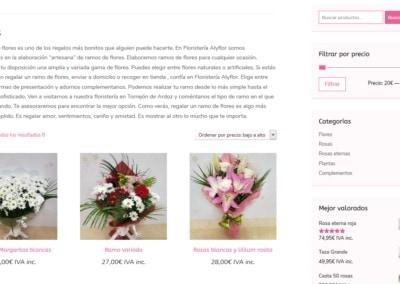 ramos flores domicilio diseno web Diseño paginas web