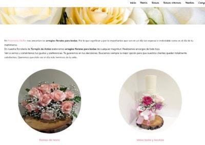 ramos novia velas bautizos madrid web Diseño paginas web