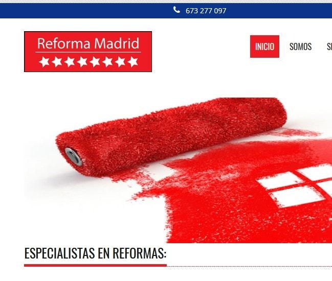 Diseño de página web para empresa de reformas electricidad albañilería en madrid Reforma Madrid