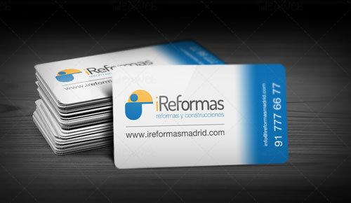 Diseño de tarjetas de visita para reformas y construcciones