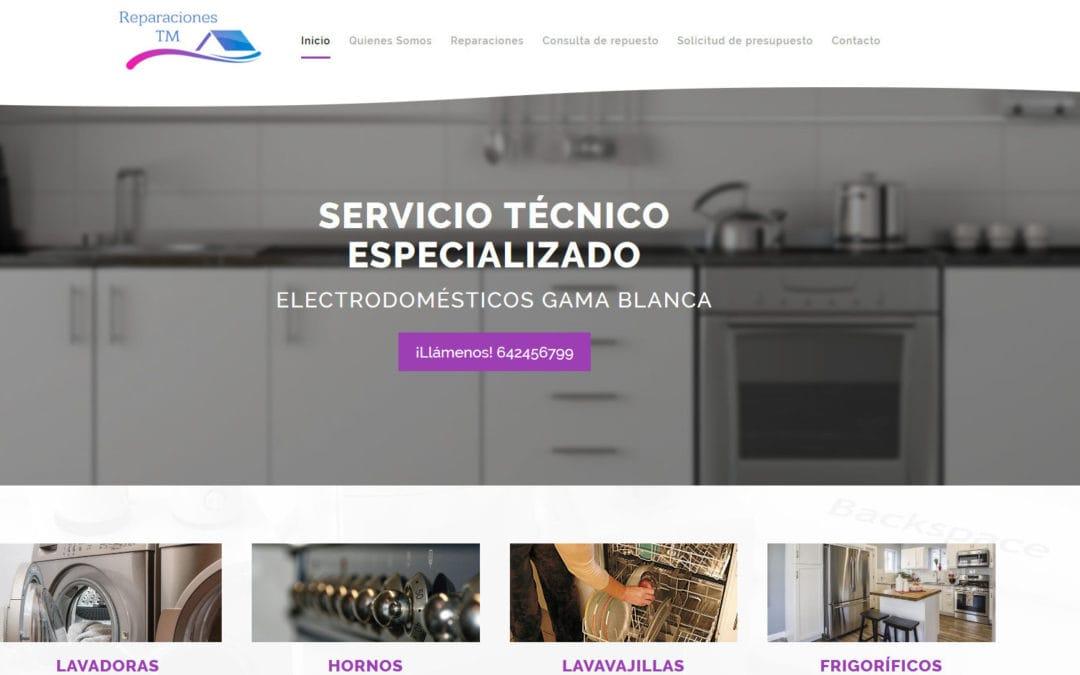 Diseño de página web para empresa de Servicio Técnico, reparaciones y asistencia técnica