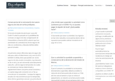 servicio areas abogado web Diseño paginas web