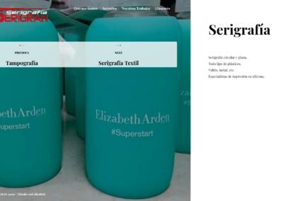 servicios tampografia serigrafiado web madrid Diseño paginas web