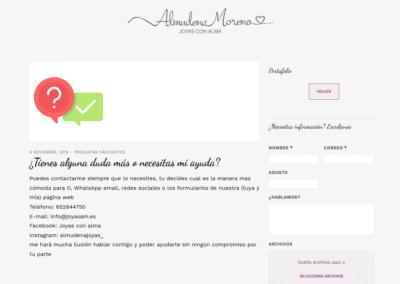taller joyeria pagina web Diseño paginas web