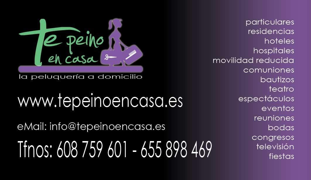 Diseño de tarjetas de visita para tepeinoencasa.es
