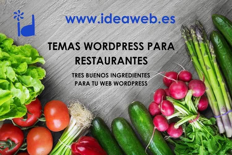 Temas WordPress para restaurantes, catering, asadores, hamburgueserías, comida rápida… Hostelería y restauración con WordPress.