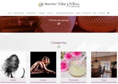 tienda online estetica belleza web Diseño paginas web