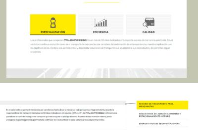 transporte almacenaje seguridad pagina web
