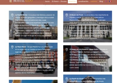 Pagina Web Hostal