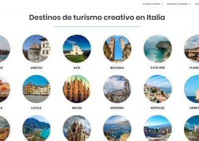 turismo creativo pagina web Diseño paginas web