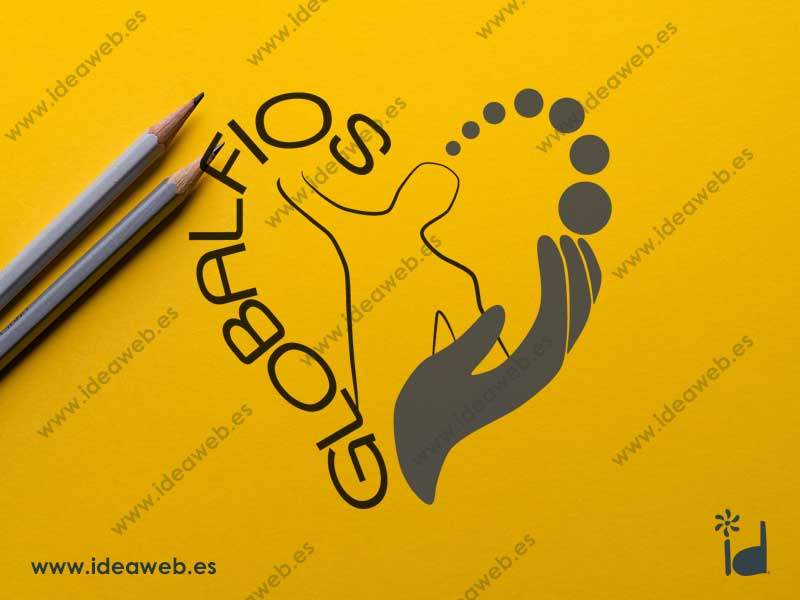 Vectorizado logotipo fisioterapia clínica terapias salud