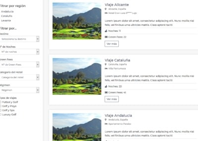 Viaje Personalizado Golf Diseno Web