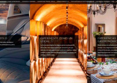 viajes estilo gastronomia local web diseno