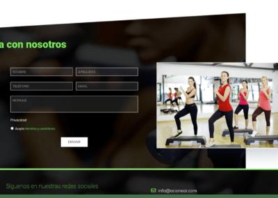 web contacto empresa ocio deporte Diseño paginas web