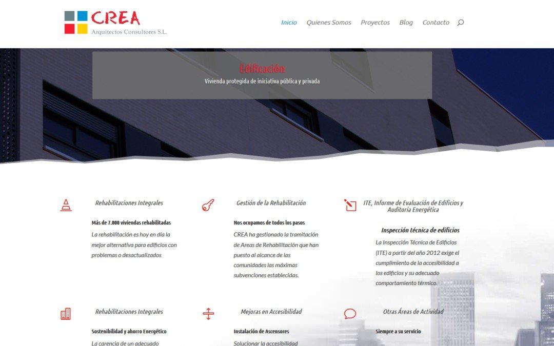 Diseño pagina web para empresa de arquitectura y estudio Arquitectos en Madrid
