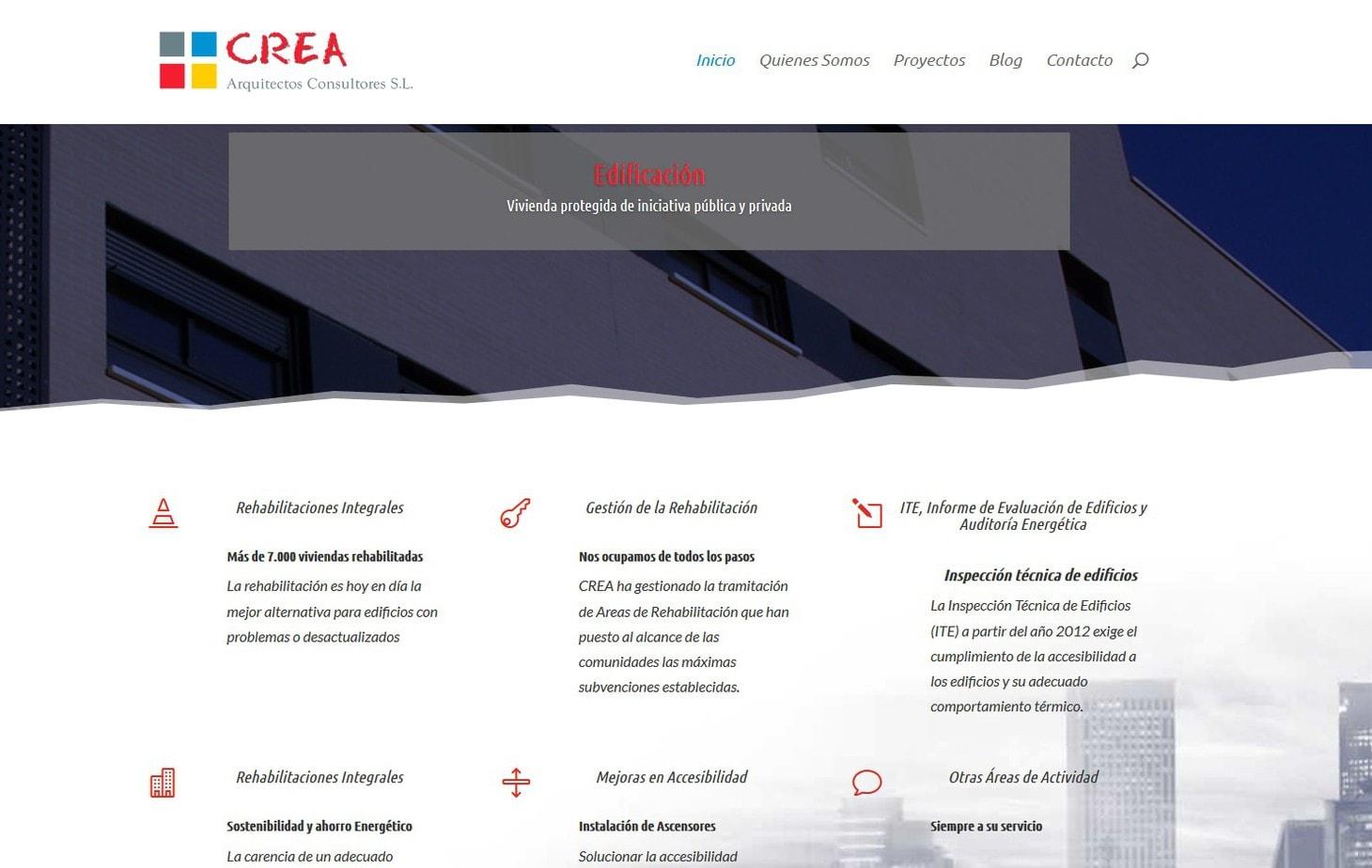 web creaarquitectos madrid Diseño paginas web