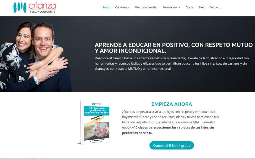 Diseño de pagina web para escuelas y formación madres y padres