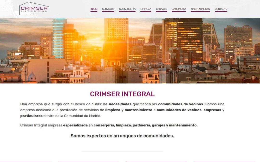 Diseño de página web para empresa multiservicios en Madrid dedicada a servicios integrales a comunidades.