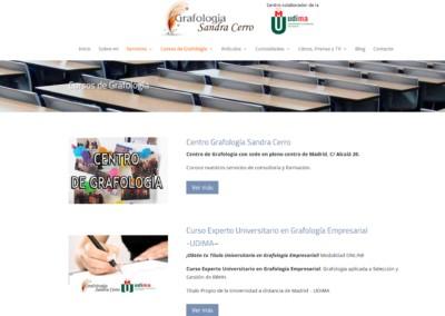 Web Cursos Grafologia Presenciales Online