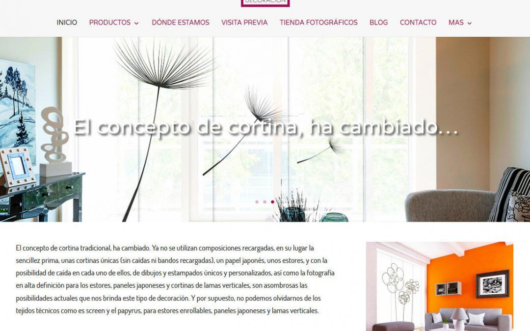 Dise o web madrid empresa tienda decoraci n interiores - Paginas web de decoracion ...