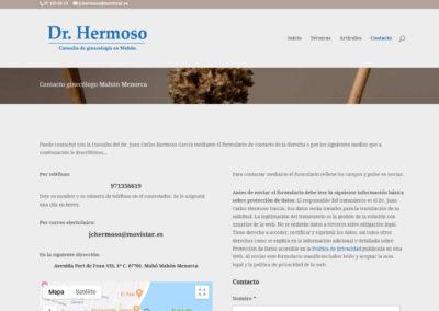 web doctor hermoso ginecologo Diseño paginas web