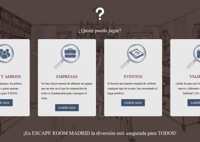 web empresa escape room Diseño paginas web