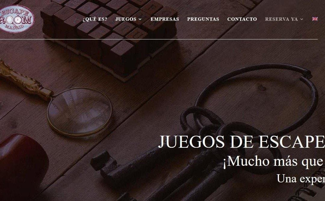 Diseño de página web Madrid para empresa de juegos de Escape Room