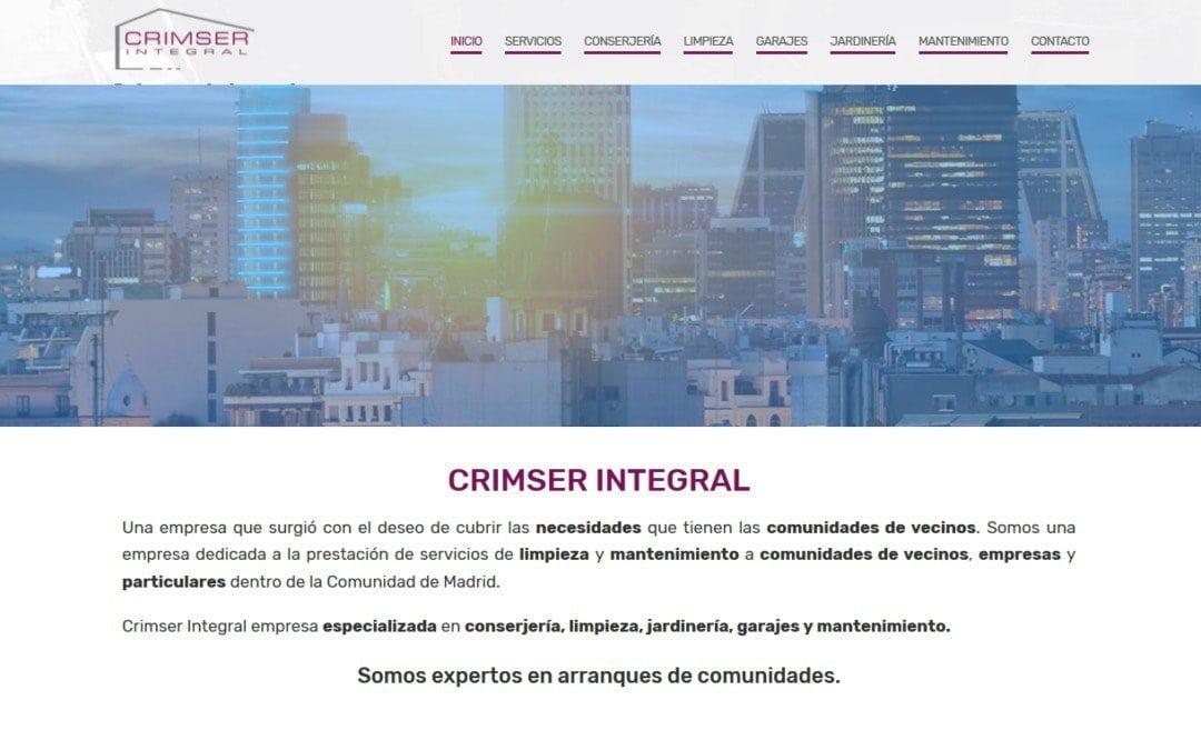 Creación página web para empresa de servicios en Madrid dedicada a mantenimiento y limpieza de comunidades de vecinos, empresas y particulares