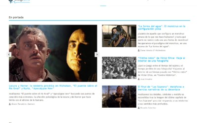 Diseño de pagina Home WordPress con CPT y CF. Diseño para proyecto Ocio magazine para cinéfilos y análisis especializado.