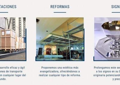 web importacion articulos religiosos Diseño paginas web