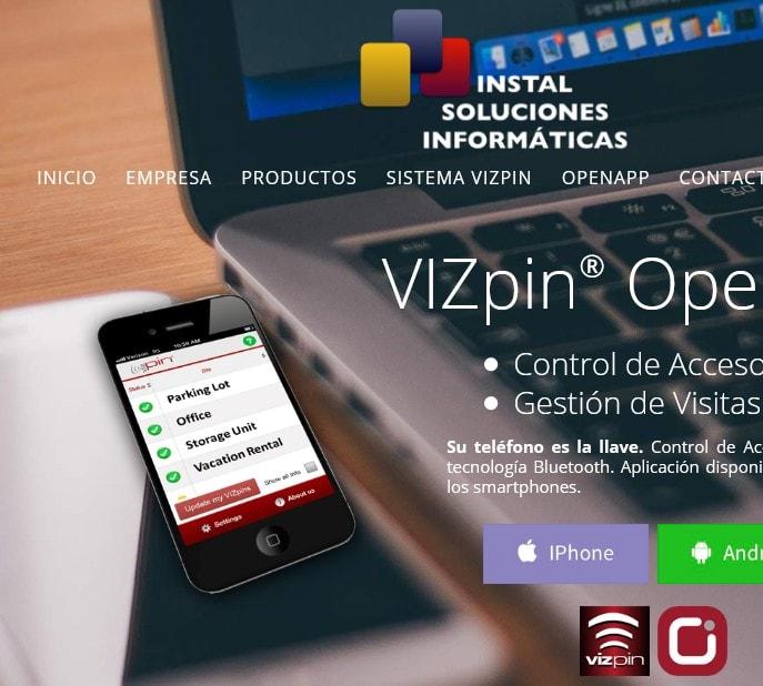 Diseño de página web para empresa de Madrid en sector seguridad, gestión y control remoto.