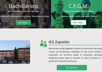 web instituto colegio formacion Diseño paginas web