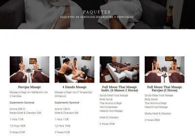 web masajes salud thai Diseño paginas web