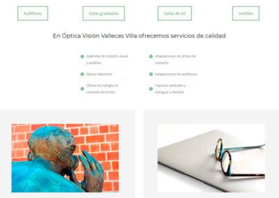 web oculista vallecas villa Diseño paginas web