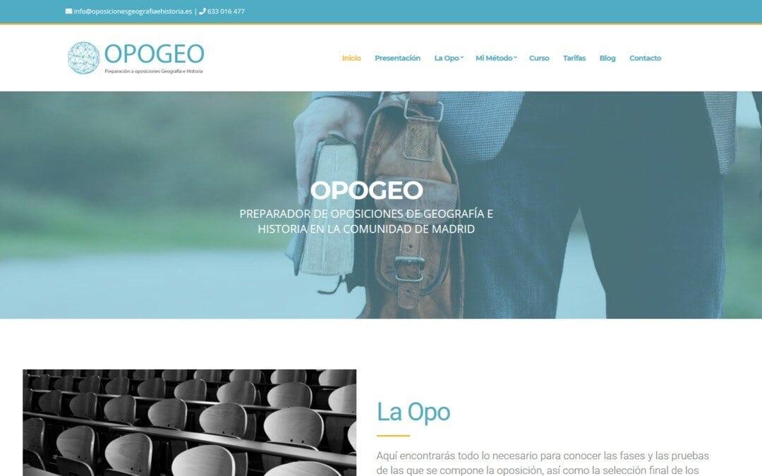 Diseño pagina web para oposiciones en Madrid