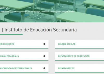 web para colegio formacion Diseño paginas web