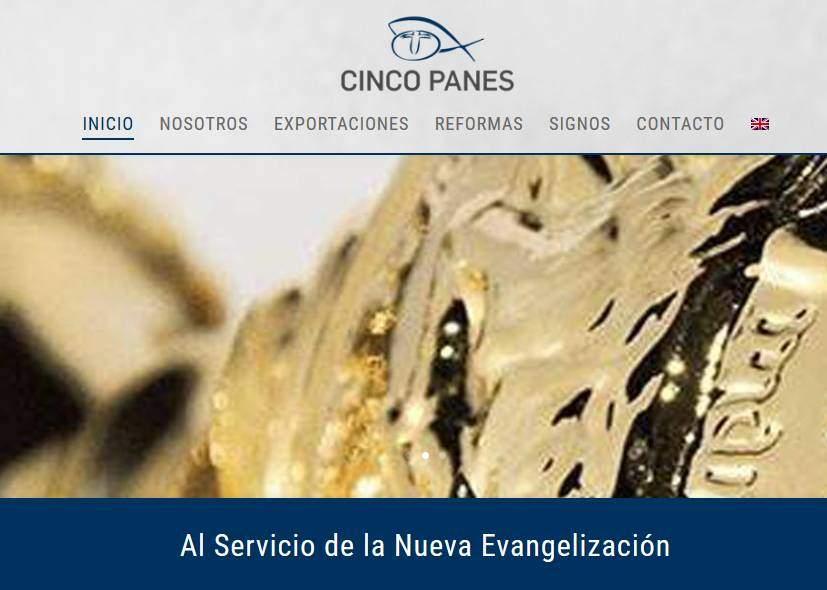 Diseño de páginas web para empresa distribuidora de artículos religiosos y venta de productos e importación