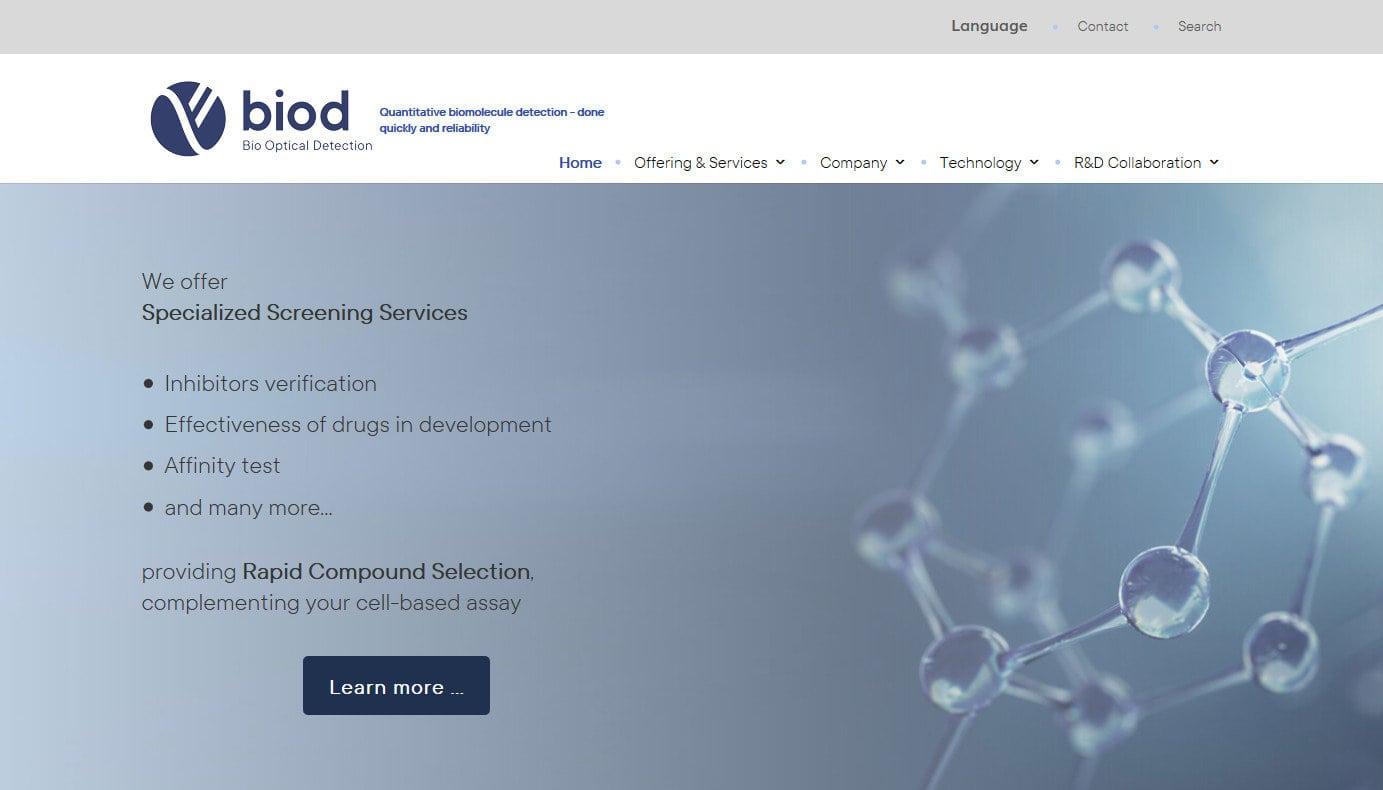 web para empresa optica Diseño paginas web