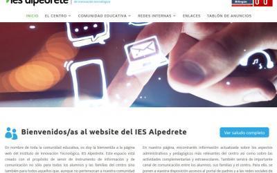 Diseño de página web para colegio instituto público de innovación tecnológica Madrid
