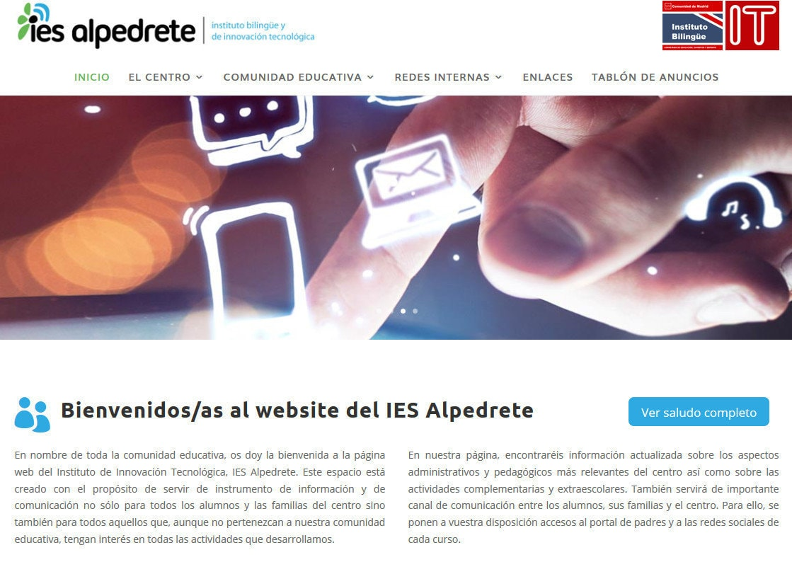 web para instituto profesorado Diseño paginas web