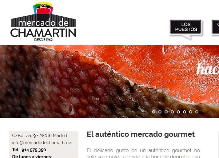 Diseño de página web para mercado alimentación en Madrid Mercado de Chamartín