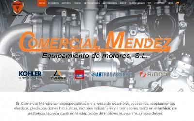 Diseño de página web en Toledo para empresa de recambios y motores