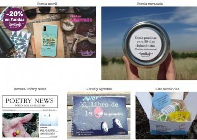 web para tienda poesia